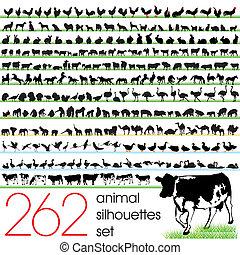 262 Animal Silhouettes Set