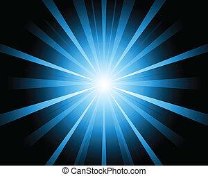 A blue color design with a burst