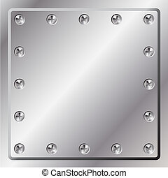 A Metal Background with Screws