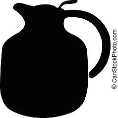 a pot silhouette vector