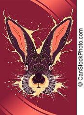 Rabbit Animal Poster