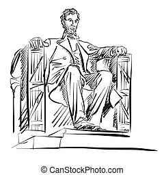 Abraham Lincoln Freehand Sketch Vector Artwork
