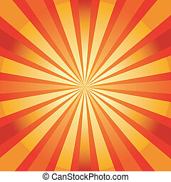 Abstract background with sunburst