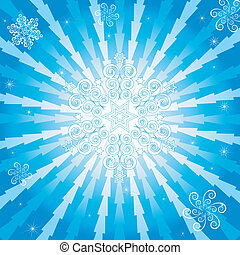Abstract christmas blue background (vector)