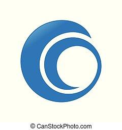 Abstract Circular Spiral Swoosh Symbol Logo Design