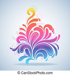 Abstract colorful splash design element vector illustration.