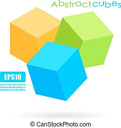Abstract cubes icon