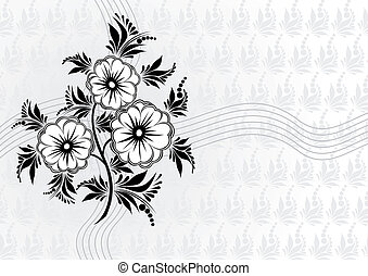 Abstract flowers with background