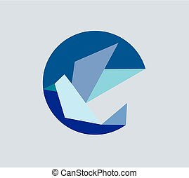 Abstract Geometric Bird Logo