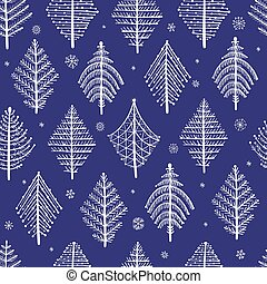 Abstract geometric trees. Seamless Pattern for your design