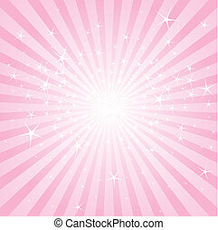 Pink abstract background with stars and stripes