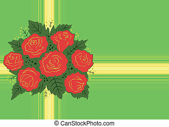 Abstract red roses