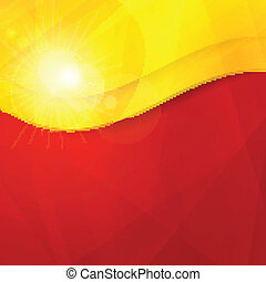 Abstract red yellow orange design t