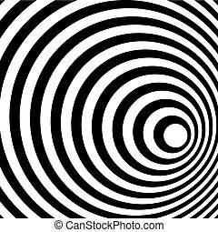 Abstract Ring spiral black and white pattern. Vector illustration.