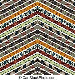 Abstract seamless ethnic pattern. Vector illustration