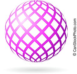 Abstract sphere vector icon