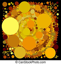 abstract spherical luminous gold stars