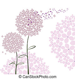 Abstract springtime purple pink Hydrangea flower