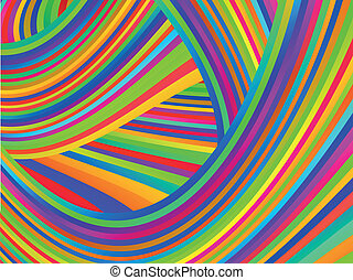Abstract striped multicolored background