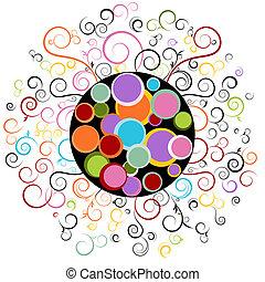 Abstract Swirl Design Element