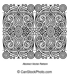 Abstract vector pattern contours