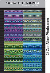 Abstract vector strip pattern set.