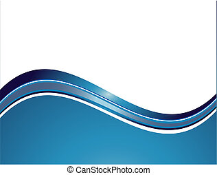 Vector abstract white background with colorful wave