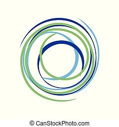 Abstract Zen Circle Wave Bond Symbol Logo Design