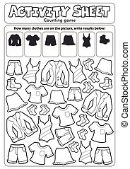 Activity sheet counting game 3 - eps10 vector illustration.