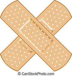 adhesive bandage (Plasters forming a cross)