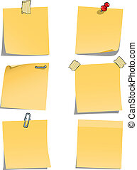 Adhesive notes on white background vector illustration