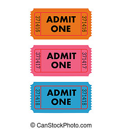 Vector Illustration of an Admit One ticket