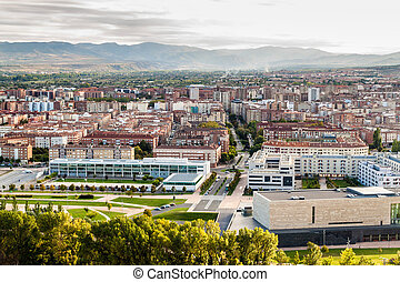 Aerial view of Logrono, Spain