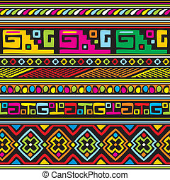 seamless vector background with color african ornament