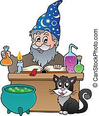 Alchemist theme image 1 - vector illustration.