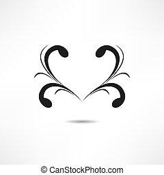 ?alligraphic design element