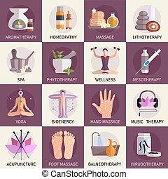 Alternative Medicine Icons Set