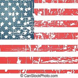 American flag vintage textured