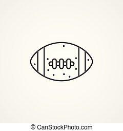 American football vector icon sign symbol