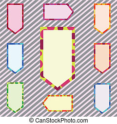 An Illustration Set of Abstract Corlorful Banner
