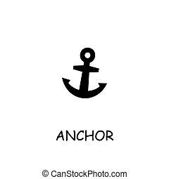 Anchor flat vector icon