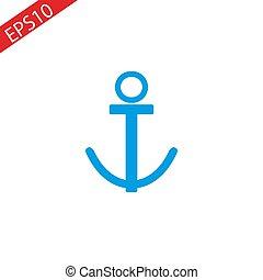 Anchor icon design white background. Vector anchor icon eps10