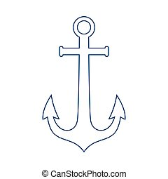 Anchor line icon, outline vector sign, linear pictogram isolated on white.