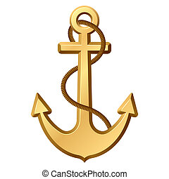 The vector illustration of an anchor.