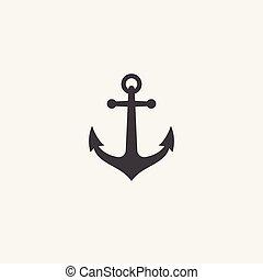 Anchor vector, Anchor vector icon