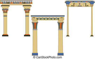 Ancient egyptian arches set