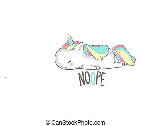 Angry Sad Unicorn Lies Say Nope Poster Design