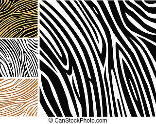 Animal background pattern - zebra skin print