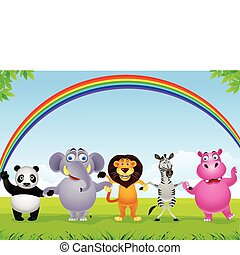 Animal cartoon group
