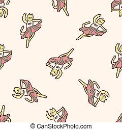 animal dancing cartoon theme elements